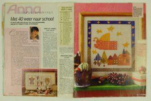Patroon bordurwerk engelen uit Anna 2001
