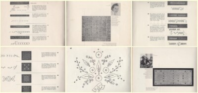 6 pagina's uit boekjes Met de draad van Arachne