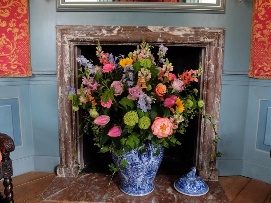 Bloemen op paleis het Loo