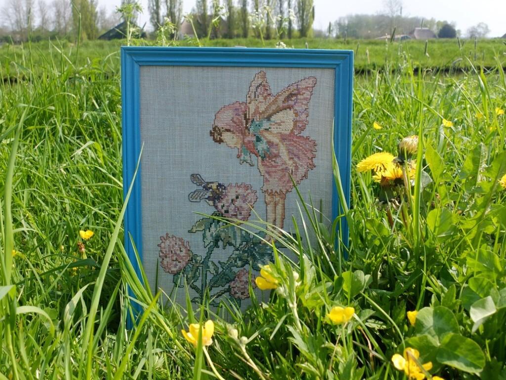 Borduurwerk Flower Fairy klaver