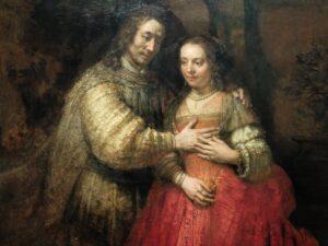 Schilderij Joodse bruidje