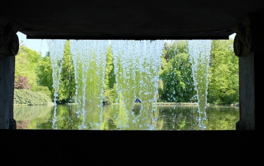 Uitzicht vanuit waterval park oude Loo