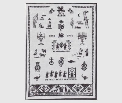 Wandkleed met Bijbelse voorstellingen