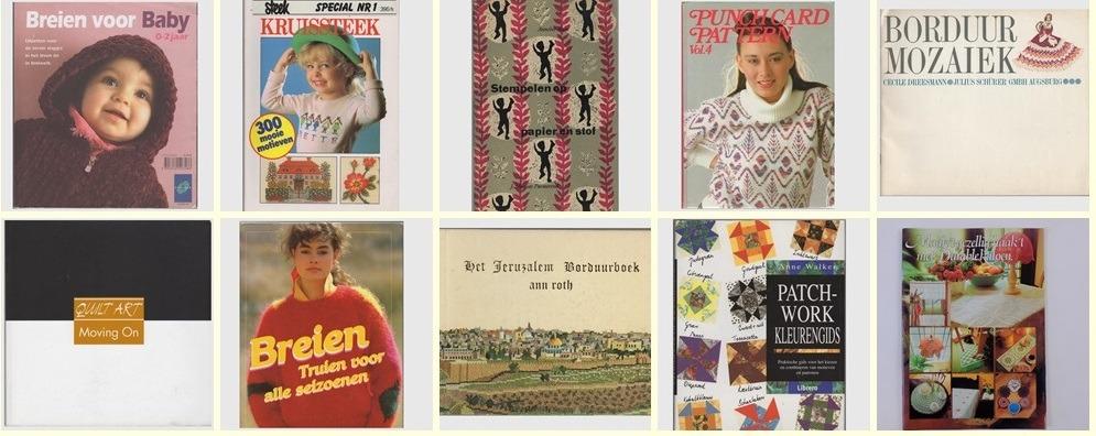 Collage tien tweedehands handwerkboeken