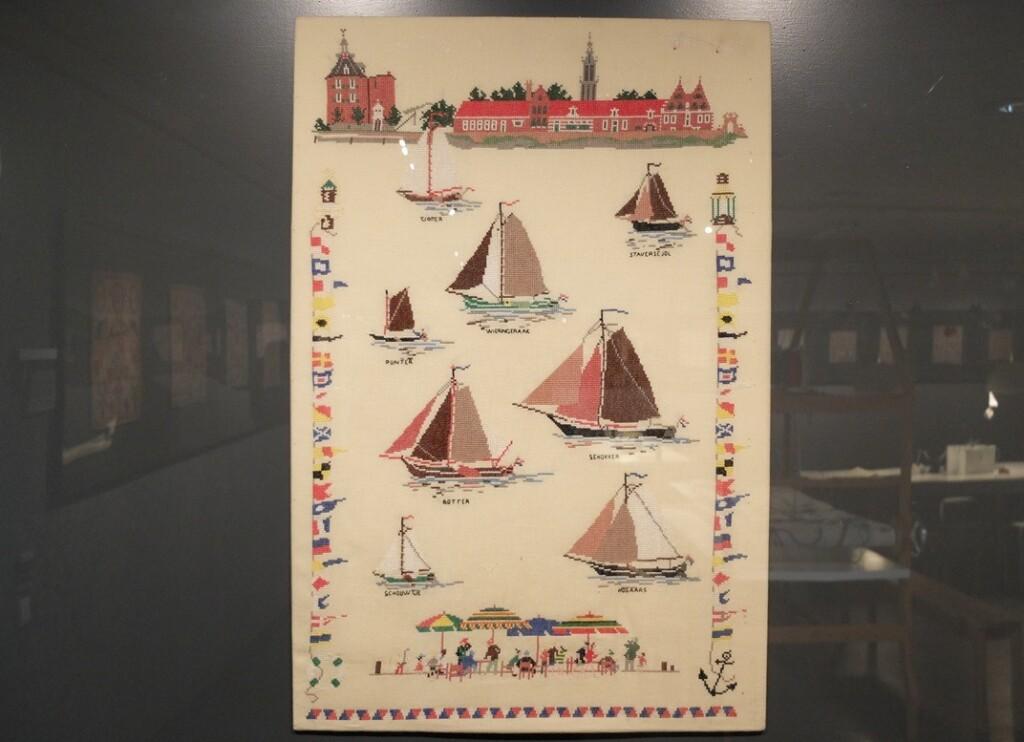 Merklap Zeilboten ontwerp Mies Bloch