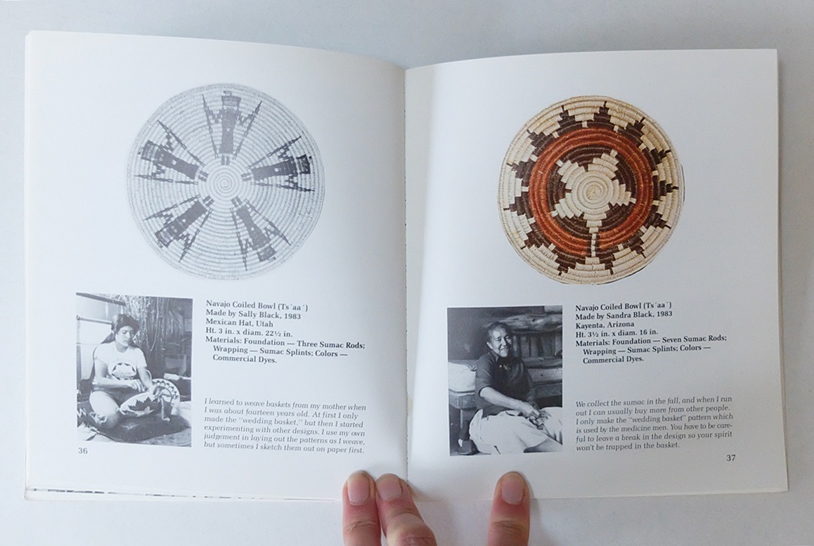 Pagina uit boek Basket Weaving