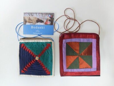 Twee patchworktasjes uit Kyrgyzstan