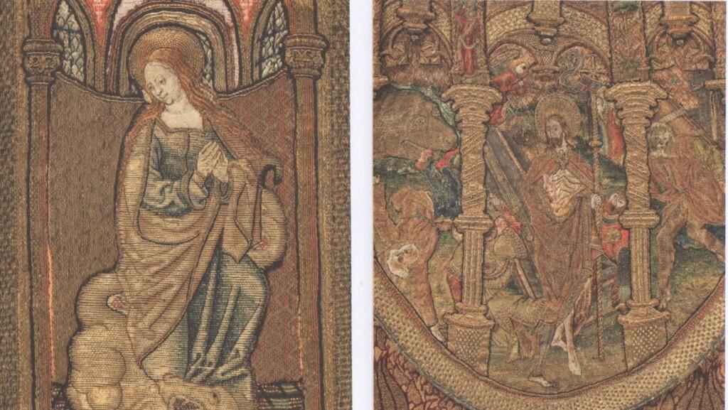 Borduurwerk op middeleeuwse gewaden