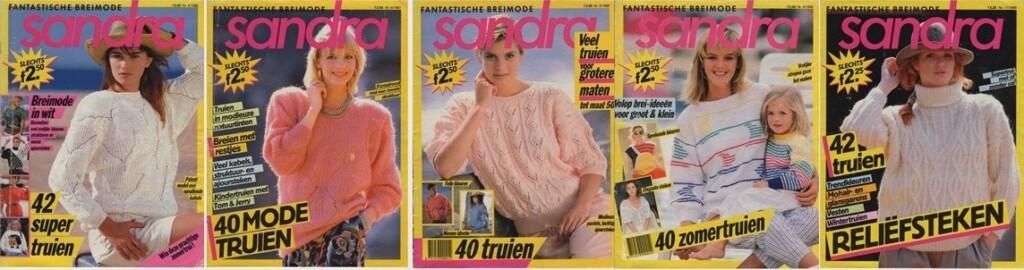 Collage Tijdschriften Breimode Sandra
