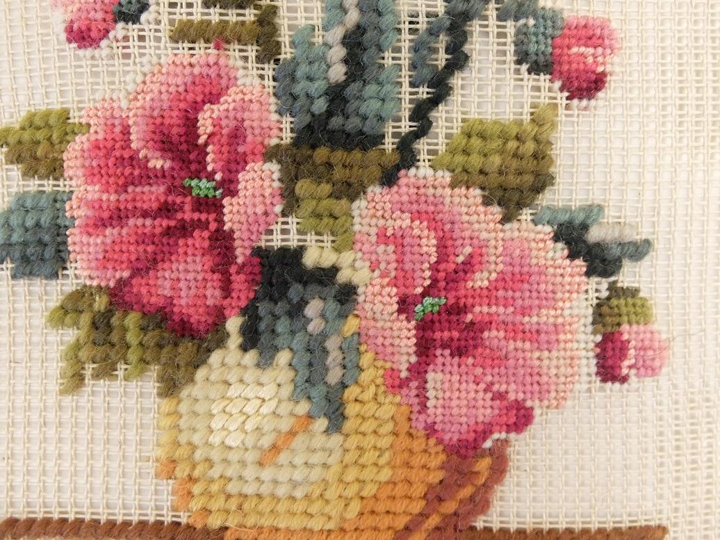 Detail tapisserie en petit point