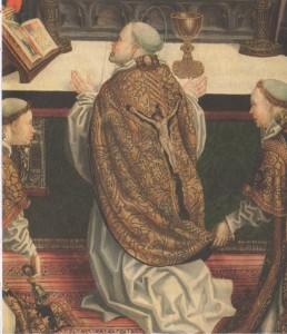 Detail uit Gregoriumsmis