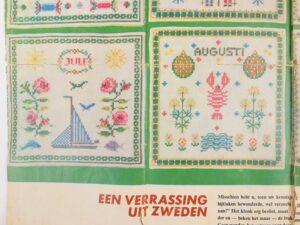 Maanden juli augustus zweeds borduurpatroon