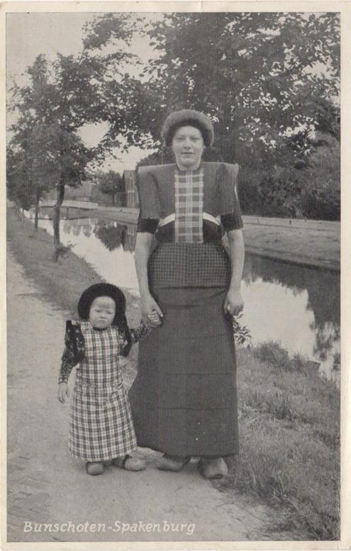 Oude ansichtkaart Bunschoten Spakenburg