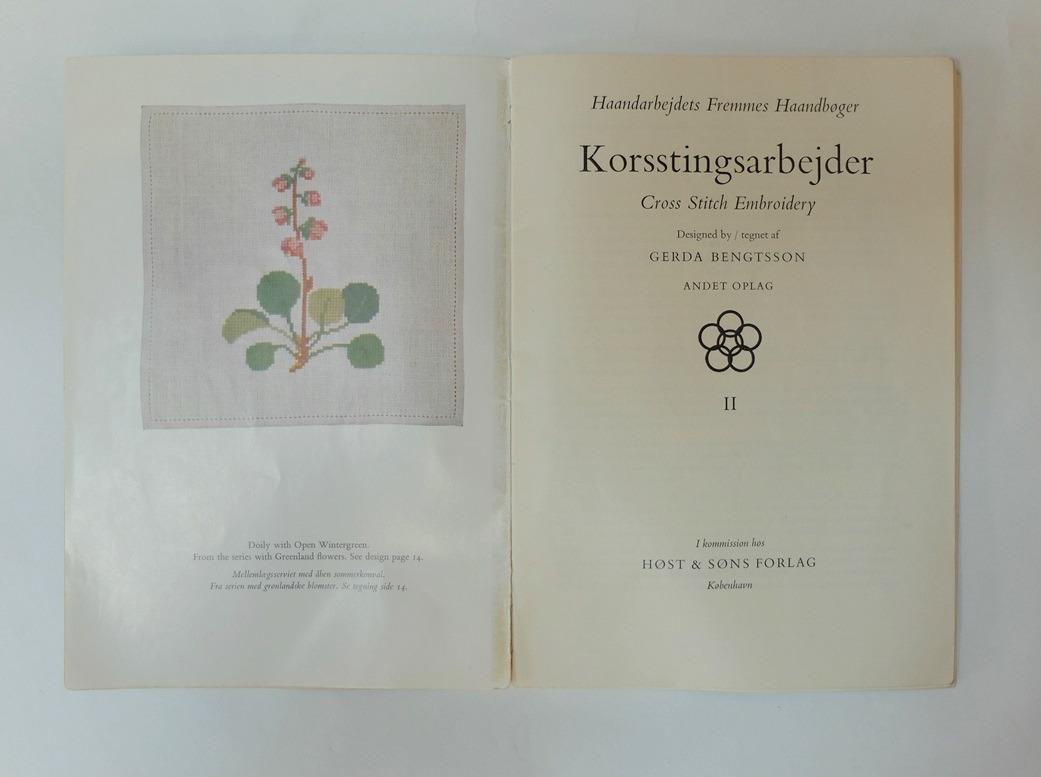 Pagina uit boekje Korsstingsarbejder