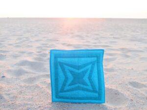 Patchworkje op strand
