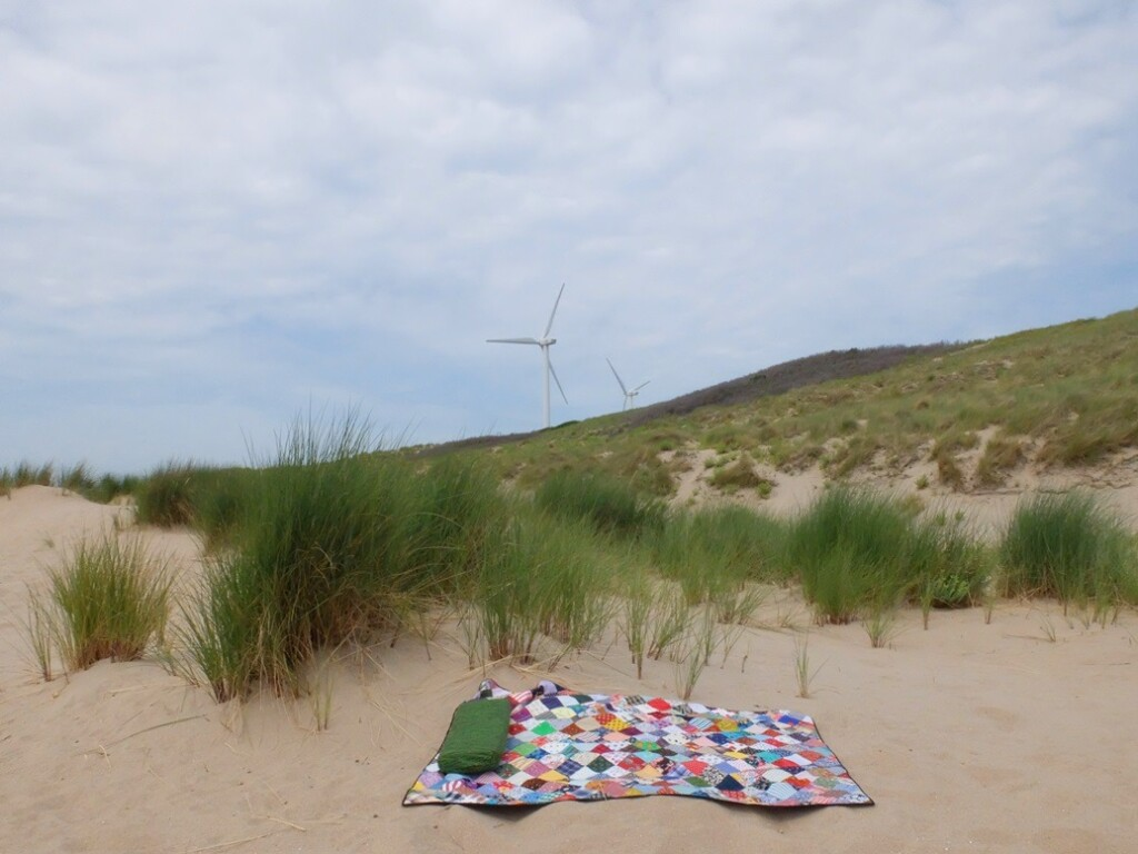 Sampler quiltje in duinen