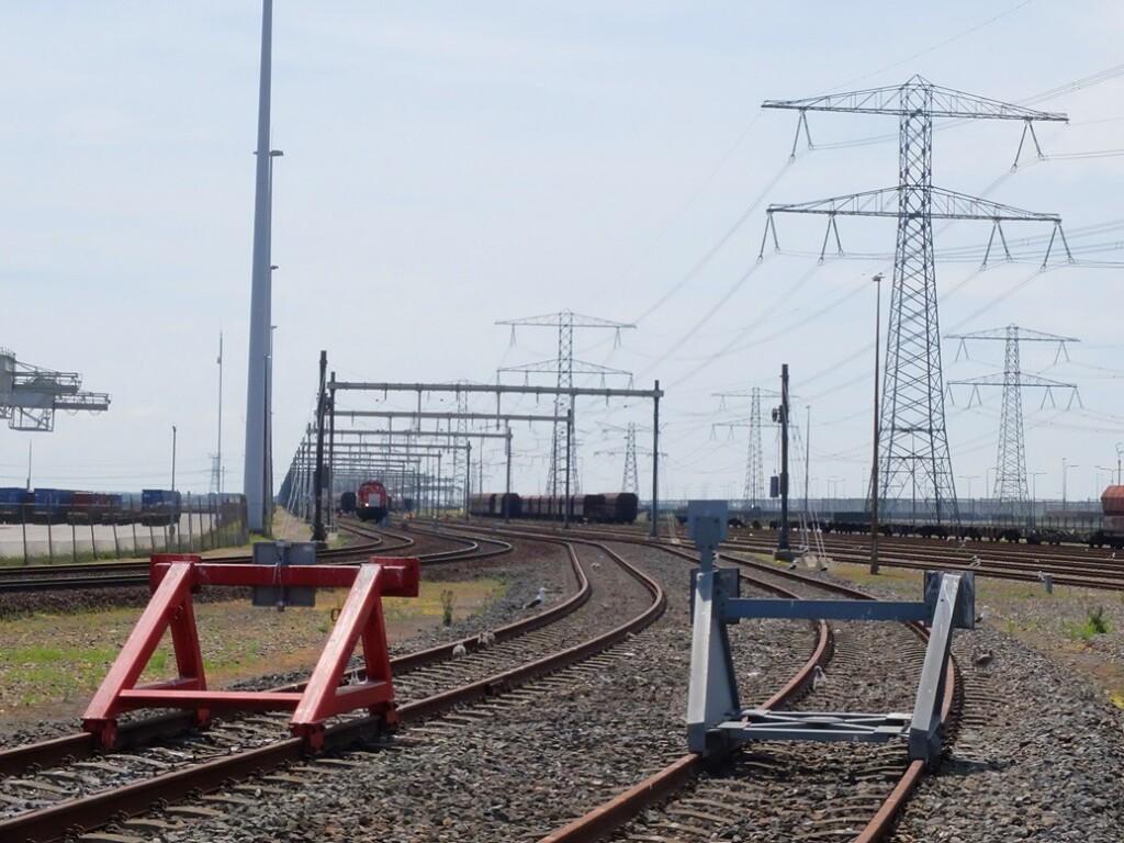 Stootblokken op rails