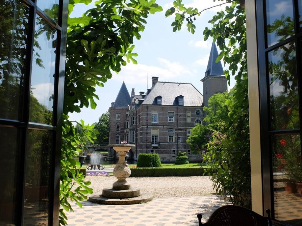 Uitzicht op kasteel Twickel