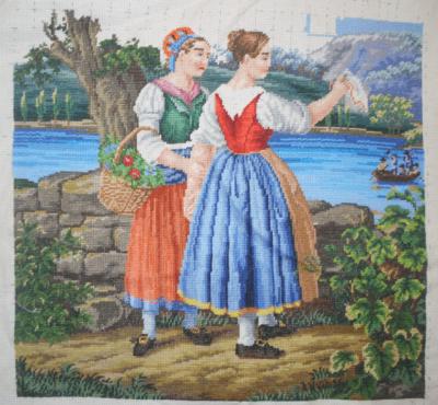 Borduurwerk naar historisch patroon