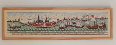 Borduurwerk sailing ships