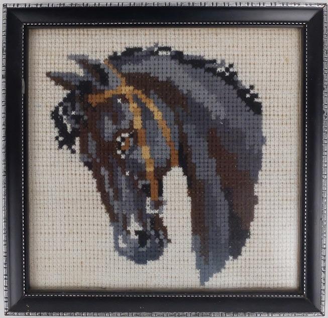 Borduurwerkje paardenhoofd