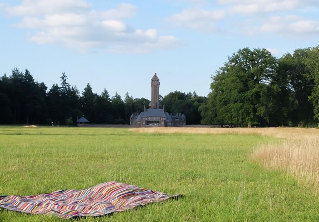 Gehaakte deken bij Sint Hubertus