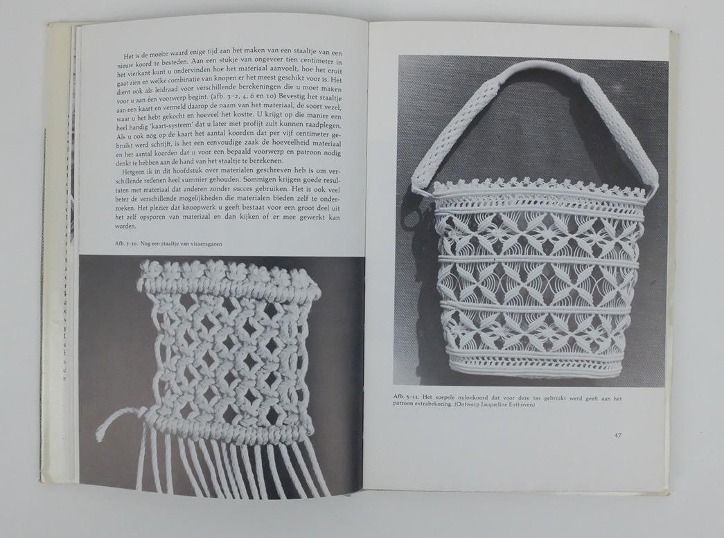 Pagina uit boek Macramé