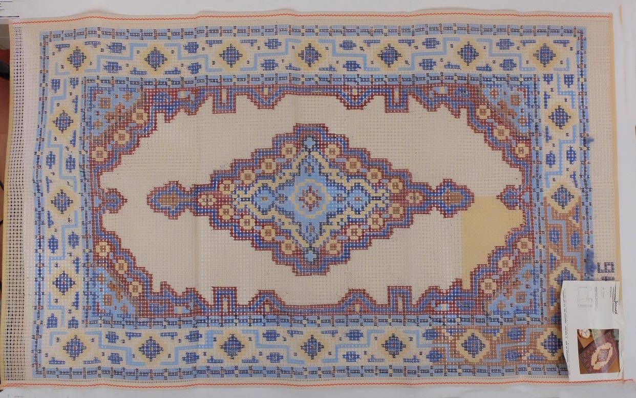 Groot voorbedrukt stramien voor tapijt