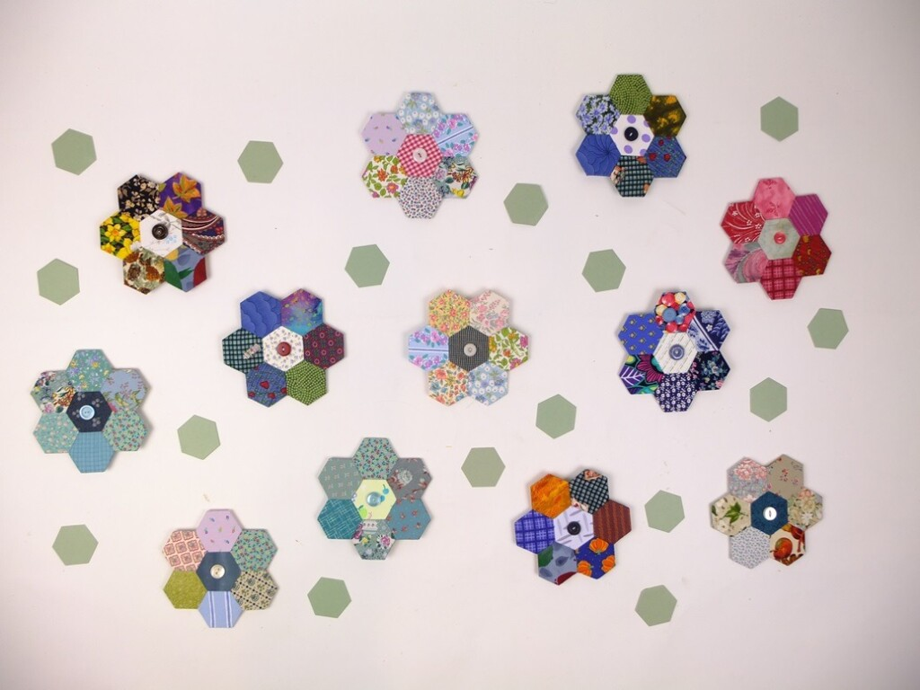 Hexagonnen patchwork