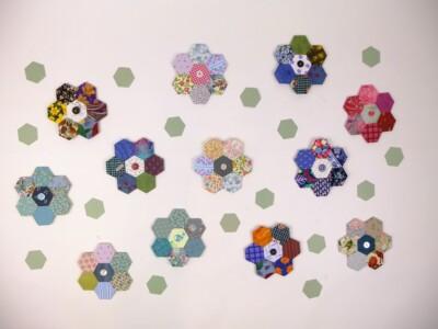 Hexagonnen patchwork