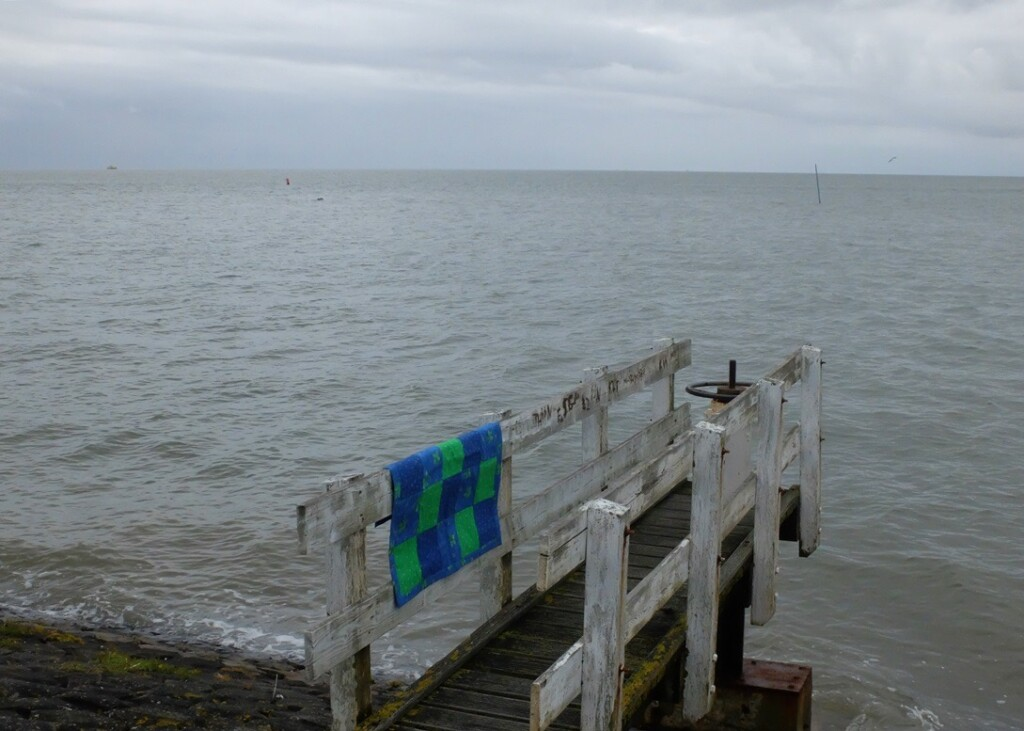 Klein quiltje bij Waddenzee