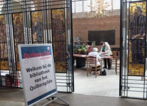 Tijdelijke bibliotheek quiltersgilde in Deventer
