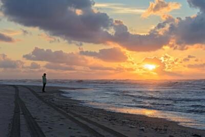 Zonsondergang op strand Vlieland