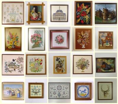25 geborduurde schilderijen