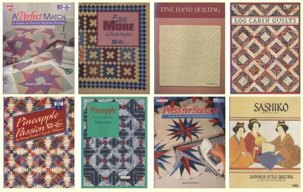 Acht patchworkboeken
