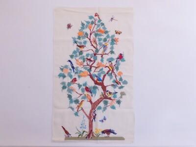Borduurwerk vogeltjesboom