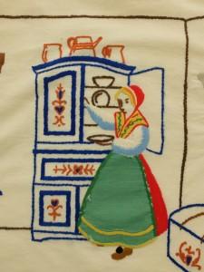 Detail scandinavish borduurwerk