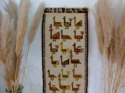 Geweven kleed Peruaanse vogels