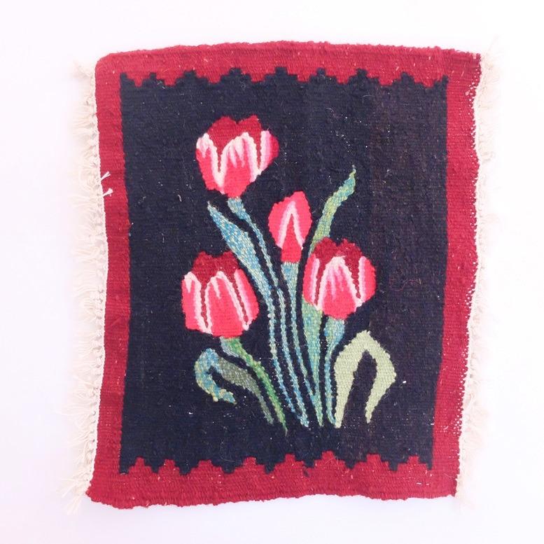 Geweven kleedje tulpen