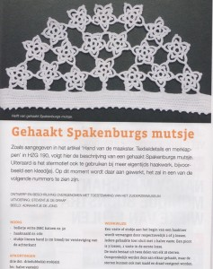 Pagina uit HzG over Spakenburger mutsje
