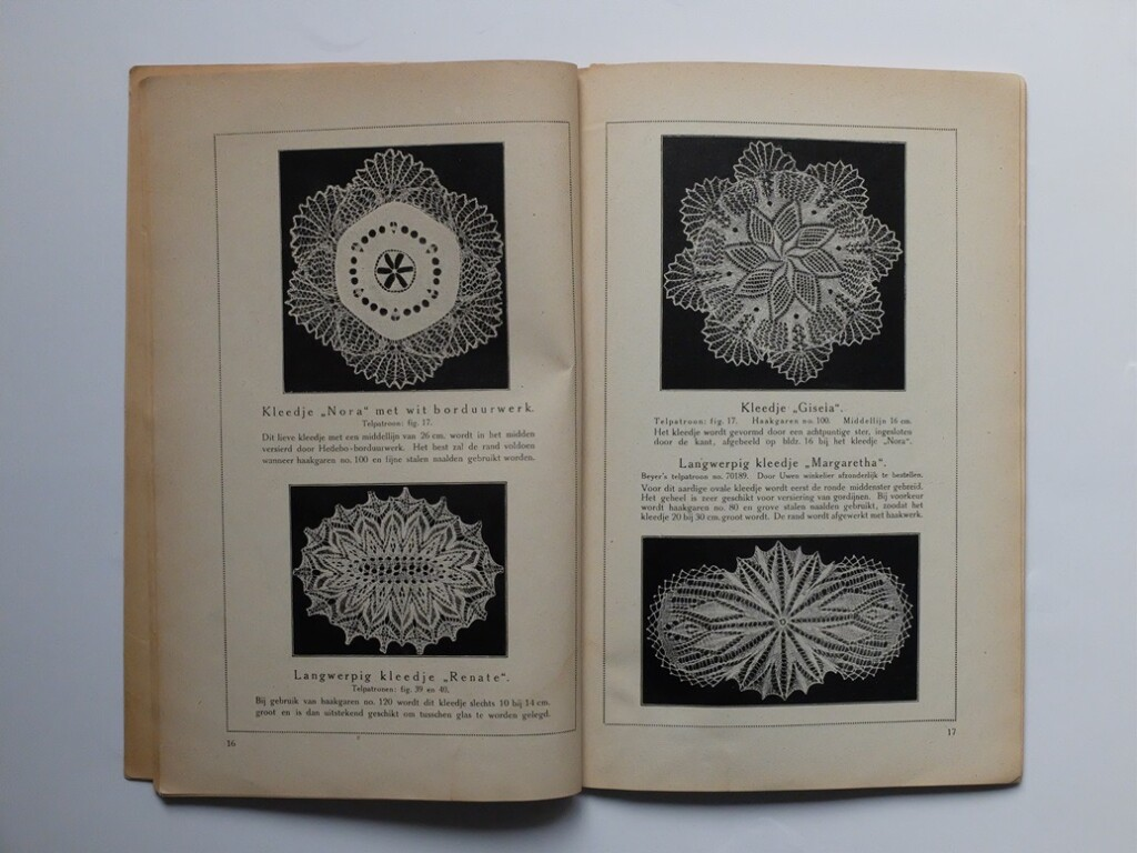 Pagina uit boekje kunstbreiwerk