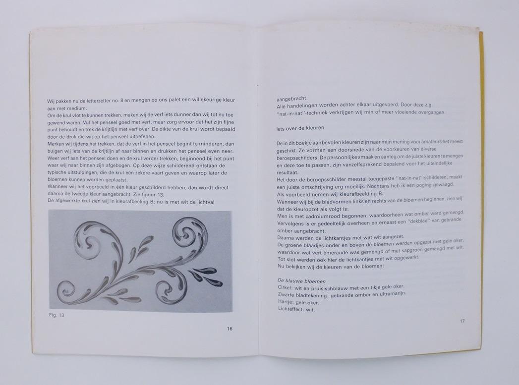 Pagina uit boekje volksschilderkunst