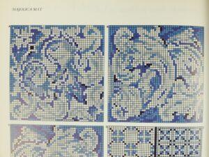 Voorbeeld Majolica borduren