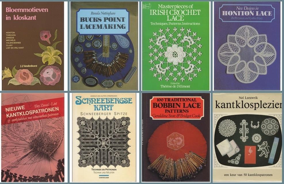 Acht boeken over Kantklossen