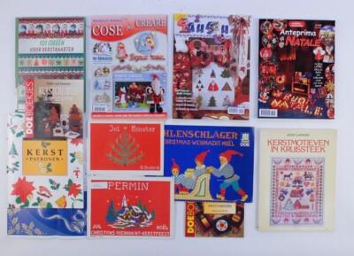 Boeken met veel borduurpatronen voor kerst
