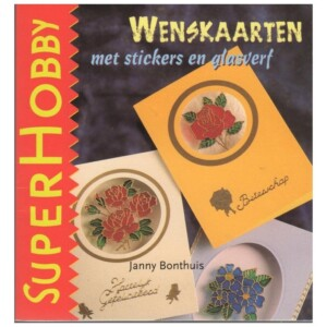 Boekje wenskaarten met stickers en glasverf