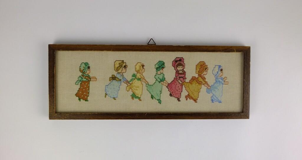 Borduurwerkje spelende kinderen