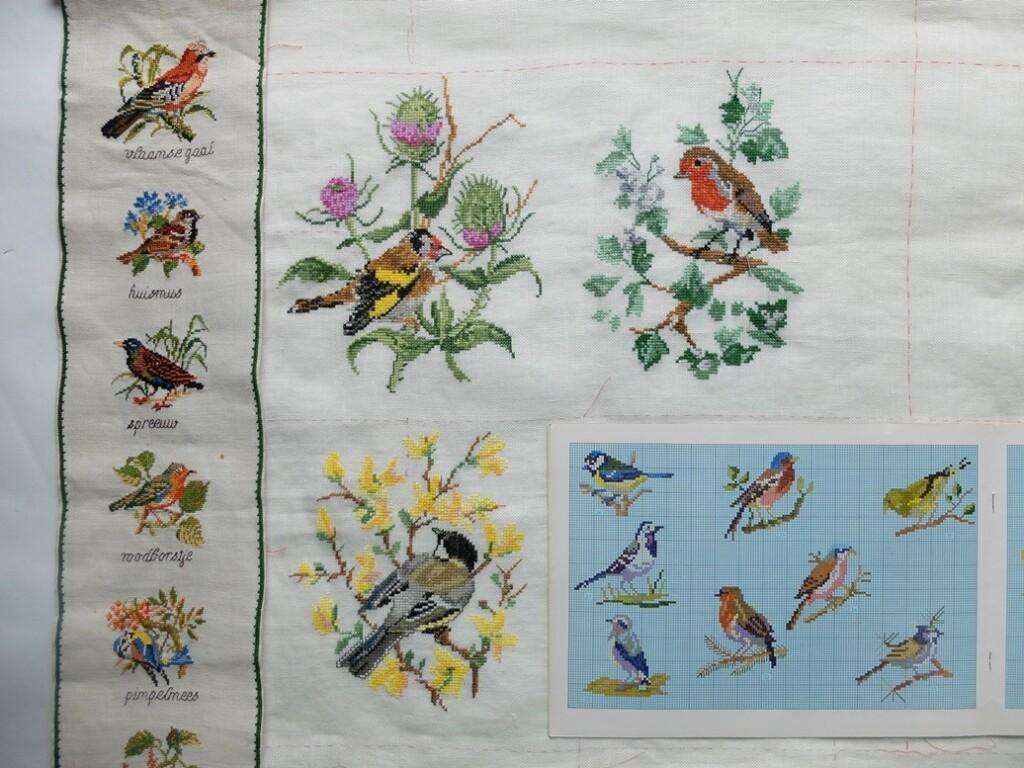 Geborduurde-vogeltjes