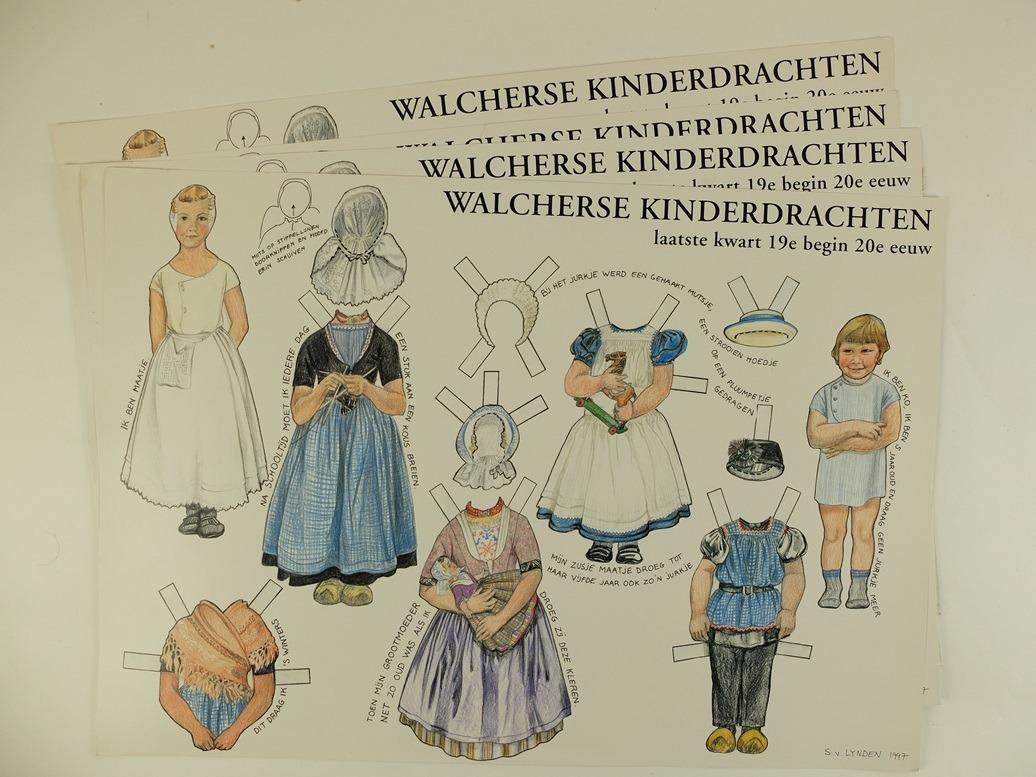 Knipplaat Walcherse kinderdrachten
