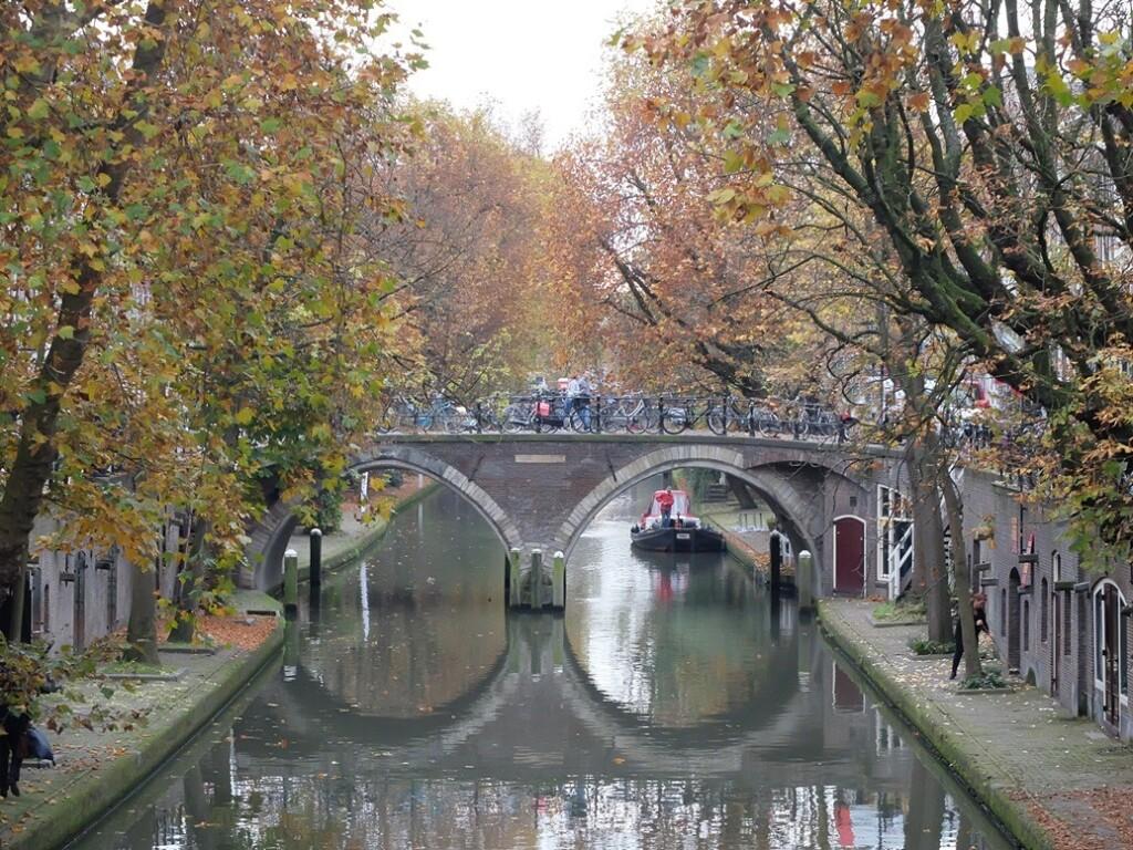 Oude Gracht Utrecht in november